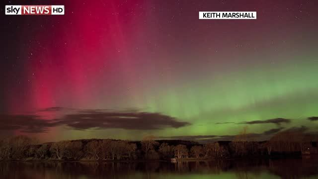 News video: Northern Lights Show For Brit
